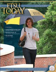 Spring 2009 - East Tennessee State University