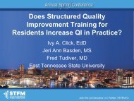 Does Structured Quality - East Tennessee State University