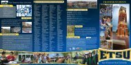 Transfer Brochure - East Tennessee State University