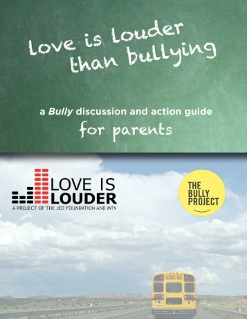 """A """"Bully"""" - The Jed Foundation"""