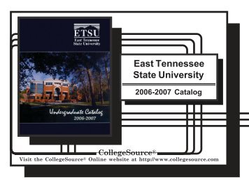 2006 - 2007 - East Tennessee State University