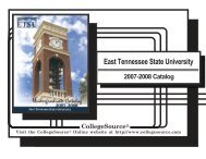 2007-2008 - East Tennessee State University