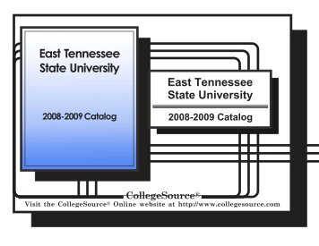 2008-2009 - East Tennessee State University