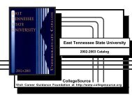 2002 - 2003 - East Tennessee State University