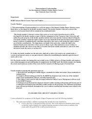 Memorandum of Understanding For Development of Regent's ...