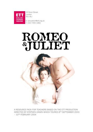 Download Romeo and Juliet Education Pack - English Touring ...