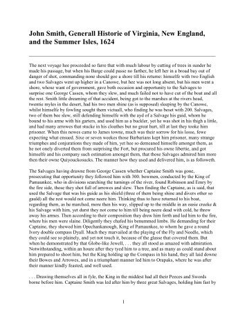 the generall historie of virginia john smith