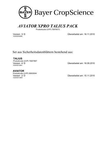 AVIATOR XPRO TALIUS PACK