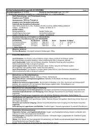 Sicherheitsdatenblatt gemäß 91/155/EWG - Raiffeisen