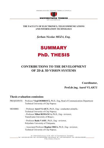 synopsis for phd thesis P a g e | 2 ˝ ˙˝˛ ˘ the topic of the thesis is broadly related to the areas of production management, with special focus on cost reduction techniques in order to.