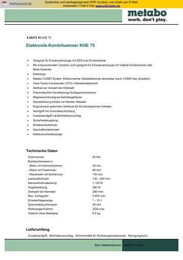 Elektronik-Kombihammer KHE 75