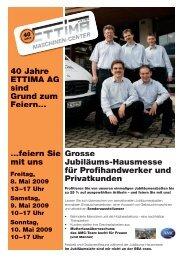 Grosse Jubiläums-Hausmesse für Profihandwerker und ... - Ettima AG