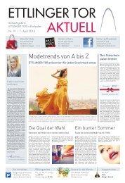 Modetrends von A bis Z - Ettlinger Tor, Karlsruhe