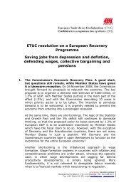 ETUC resolution on a European Recovery Programme Saving jobs ...
