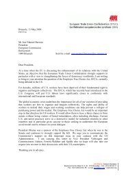 EFCA support letter to Commission President Barroso - ETUC