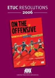 RESOLUTIONS 2006 EN.qxd - ETUC