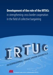 IRTUCs - collective bargaining - ETUC