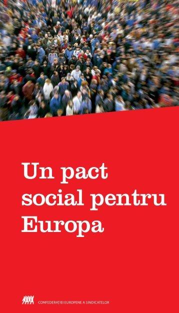 Pactul Social pentru Europa. - ETUC