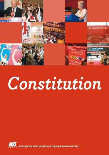 Constitution - ETUC