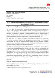 ETUC reply - European Commission