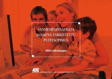 vanhempainvapaata koskeva tarkistettu puitesopimus - ETUC