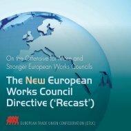 The New European Works Council Directive ('Recast') - ETUC