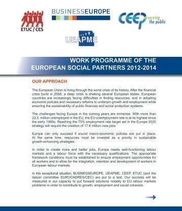 work programme of the european social partners 2012 ... - UEAPME
