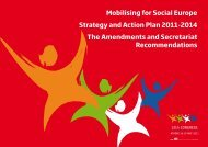 Mobilising for Social Europe Strategy and Action Plan 2011 ... - ETUC