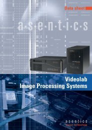 Videolab Image Processing Systems - Asentics