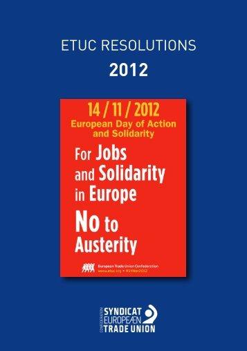 Resolutions 2012 - ETUC