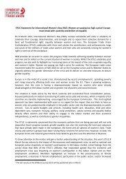 ETUC Statement for International Women's Day 2013: Women are ...