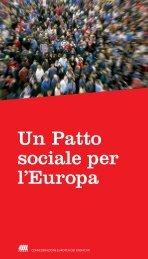 Un Patto sociale per l'Europa - ETUC
