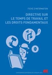 directive sur le temps de travail et les droits fondamentaux - ETUC