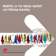 Mobility on the labour market and lifelong learning - ETUC