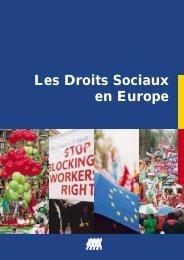 Les Droits Sociaux en Europe