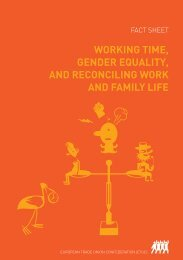 WORKING TIME, GENDER EQUALITY, AND RECONCILING ... - ETUC