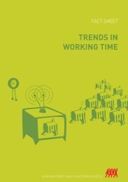 TRENDS IN WORKING TIME - ETUC