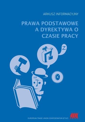 PRAWA PODSTAWOWE A DYREKTYWA O CZASIE PRACY - ETUC