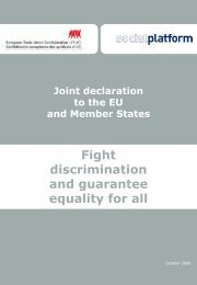 Fight discrimination and guarantee equality for all (135Kb) - ETUC