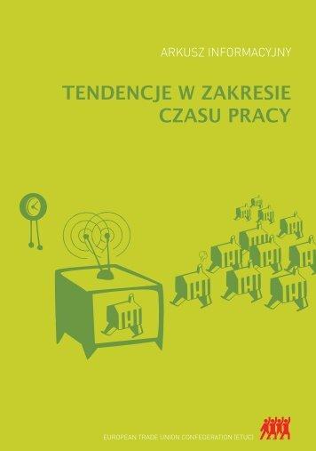 TENDENCJE W ZAKRESIE CZASU PRACY - ETUC