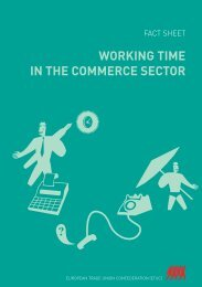 WORKING TIME IN THE COMMERCE SECTOR - ETUC