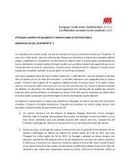 Attaques contre les salaires et l'emploi dans le secteur public - ETUC