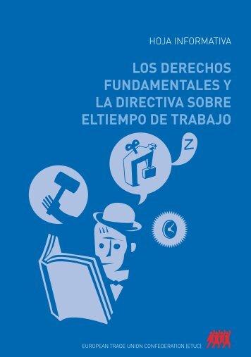 Los Derechos fundamentales y la Directiva sobre el tiempo ... - CCOO
