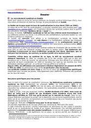 Dossier - ETUC