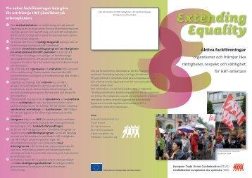 EEEExtending Equality - ETUC