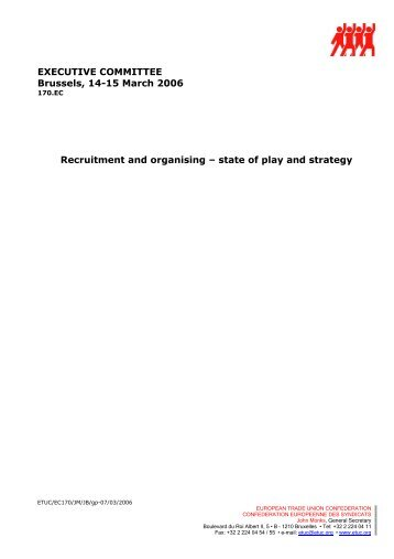 Document presented at the ETUC Executive Committee