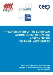 Implementation of the European autonomous framework ... - ETUC