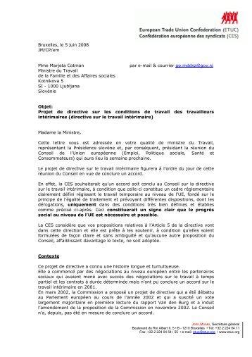 Bruxelles, le 5 juin 2008 JM/CP/em Mme Marjeta Cotman ... - ETUC