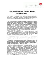 ETUC Resolution on the European Workers Participation Fund