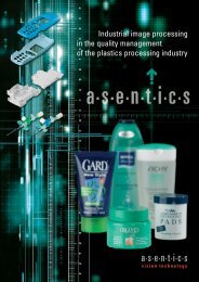 Applications with the industrial image processing system ... - Asentics